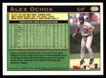 1997 Topps #298  Alex Ochoa  Back Thumbnail