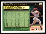 1997 Topps #299  Sid Fernandez  Back Thumbnail
