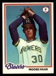 1978 Topps #649  Moose Haas  Front Thumbnail