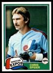 1981 Topps #97  Chris Speier  Front Thumbnail