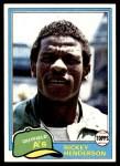 1981 Topps #261  Rickey Henderson  Front Thumbnail