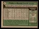 1979 Topps #52  Randy Lerch  Back Thumbnail
