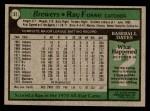 1979 Topps #51  Ray Fosse  Back Thumbnail