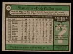 1979 Topps #492  Bob Bailor  Back Thumbnail