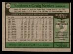 1979 Topps #460  Graig Nettles  Back Thumbnail
