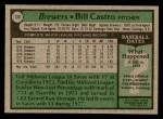 1979 Topps #133  Bill Castro  Back Thumbnail