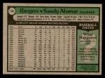 1979 Topps #144  Sandy Alomar  Back Thumbnail