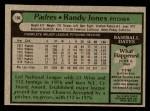 1979 Topps #194  Randy Jones  Back Thumbnail
