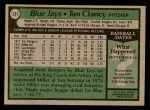 1979 Topps #131  Jim Clancy  Back Thumbnail