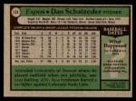 1979 Topps #124  Dan Schatzeder  Back Thumbnail