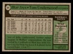 1979 Topps #64  Tom Underwood  Back Thumbnail