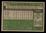 1979 Topps #113  Pete Redfern  Back Thumbnail