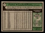 1979 Topps #321  Gaylord Perry  Back Thumbnail