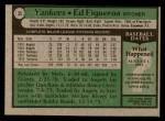 1979 Topps #35  Ed Figueroa  Back Thumbnail