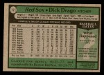 1979 Topps #12  Dick Drago  Back Thumbnail
