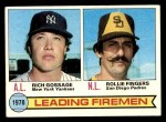 1979 Topps #8   -  Rollie Fingers / Goose Gossage Leading Firemen Front Thumbnail