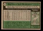 1979 Topps #63  Jack Brohamer  Back Thumbnail