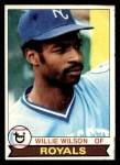 1979 Topps #409  Willie Wilson  Front Thumbnail
