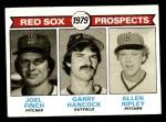 1979 Topps #702   -  Joel Finch / Garry Hancock / Allen Ripley Red Sox Prospects   Front Thumbnail