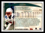 1998 Topps #96  Ty Law  Back Thumbnail