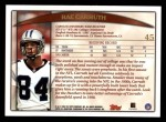 1998 Topps #45  Rae Carruth  Back Thumbnail