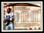 1998 Topps #25  Emmitt Smith  Back Thumbnail