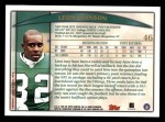 1998 Topps #46  Leon Johnson  Back Thumbnail