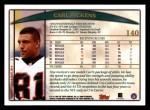 1998 Topps #140  Carl Pickens  Back Thumbnail