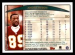 1998 Topps #80  Andre Rison  Back Thumbnail