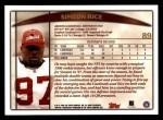 1998 Topps #89  Simeon Rice  Back Thumbnail
