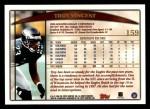 1998 Topps #159  Troy Vincent  Back Thumbnail