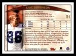 1998 Topps #54  Eric Bjornson  Back Thumbnail