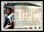 1998 Topps #94  Jason Belser  Back Thumbnail