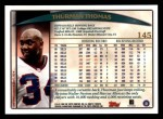 1998 Topps #145  Thurman Thomas  Back Thumbnail
