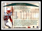 1998 Topps #113  Willie Clay  Back Thumbnail