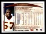 1998 Topps #7  Ken Harvey  Back Thumbnail