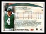 1998 Topps #9  Glenn Foley  Back Thumbnail