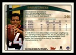 1998 Topps #346  Brian Griese  Back Thumbnail