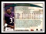 1998 Topps #312  Byron Bam Morris  Back Thumbnail