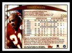 1998 Topps #220  Terry Allen  Back Thumbnail