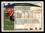 1998 Topps #334  Brian Simmons  Back Thumbnail