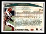 1998 Topps #254  David Dunn  Back Thumbnail