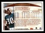 1998 Topps #306  Charlie Garner  Back Thumbnail