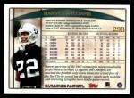1998 Topps #298  Harvey Williams  Back Thumbnail