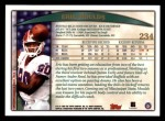 1998 Topps #234  Eric Moulds  Back Thumbnail