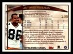1998 Topps #266  Antonio Freeman  Back Thumbnail