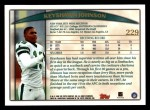 1998 Topps #229  Keyshawn Johnson  Back Thumbnail