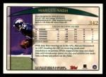 1998 Topps #342  Markus Nash  Back Thumbnail