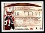 1998 Topps #282  Terrell Owens  Back Thumbnail