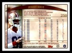 1998 Topps #250  Jerry Rice  Back Thumbnail